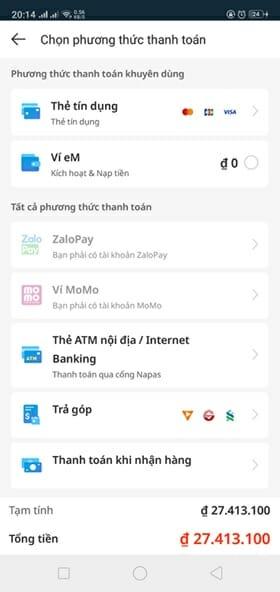 Mua hàng trên Lazada App
