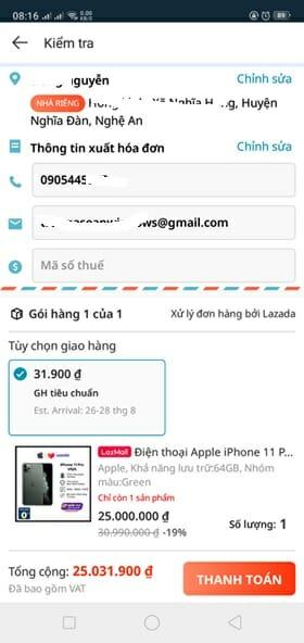 Mua trả góp trên Lazada App