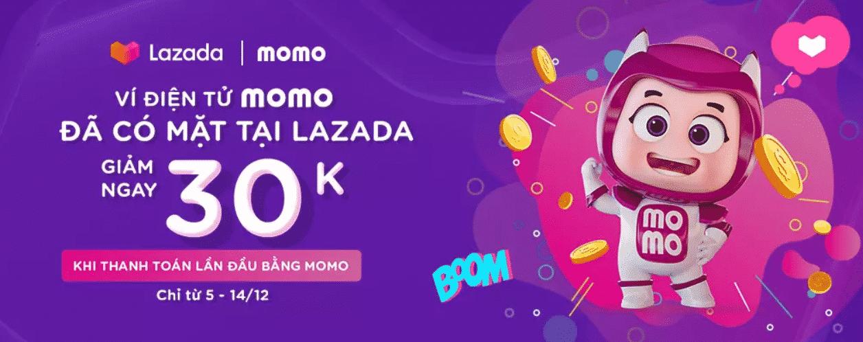 Thanh toán bằng ví Momo trên Lazada