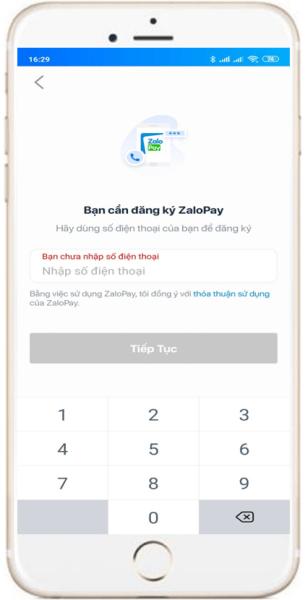 Đăng ký tài khoản ZaloPay