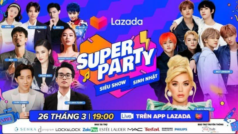 Lazada Super Show Sinh nhật 2021