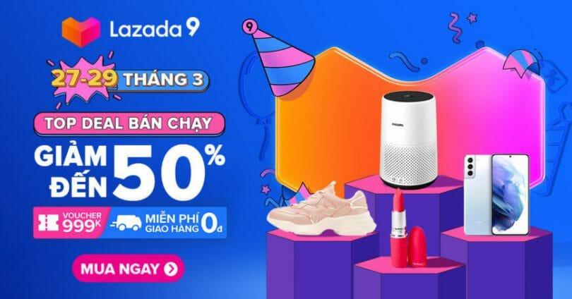Top deal bán chạy Sinh nhật Lazada lần 9